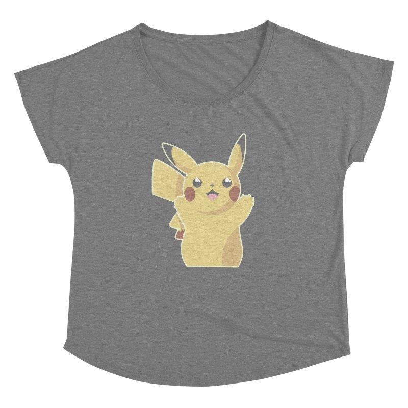 Let's Go Pikachu Pokemon Women's Scoop Neck by jaredslyterdesign's Artist Shop