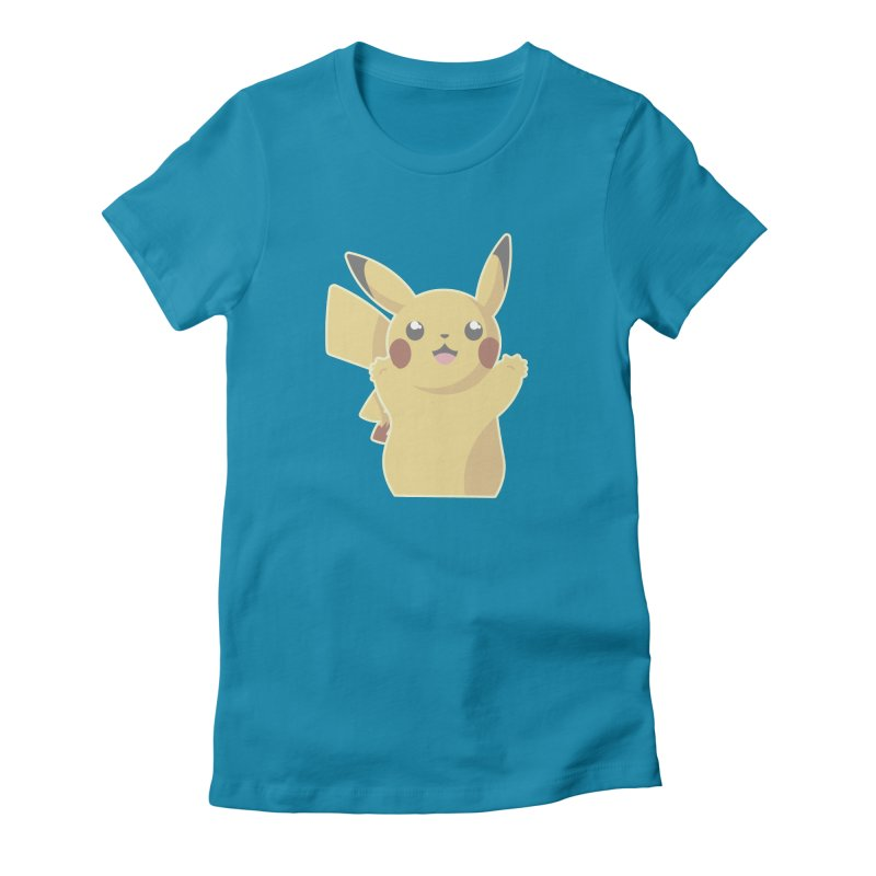 Let's Go Pikachu Pokemon Women's Fitted T-Shirt by jaredslyterdesign's Artist Shop