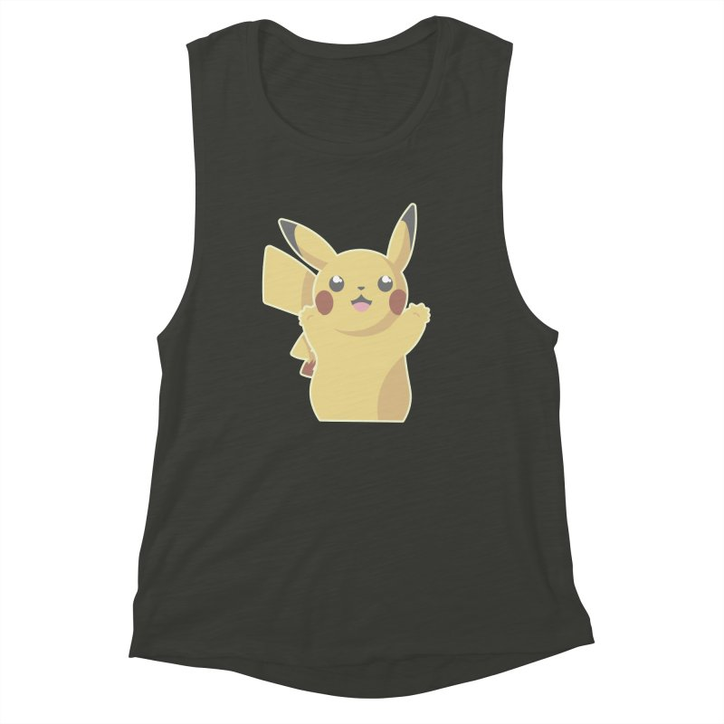 Let's Go Pikachu Pokemon Women's Muscle Tank by jaredslyterdesign's Artist Shop