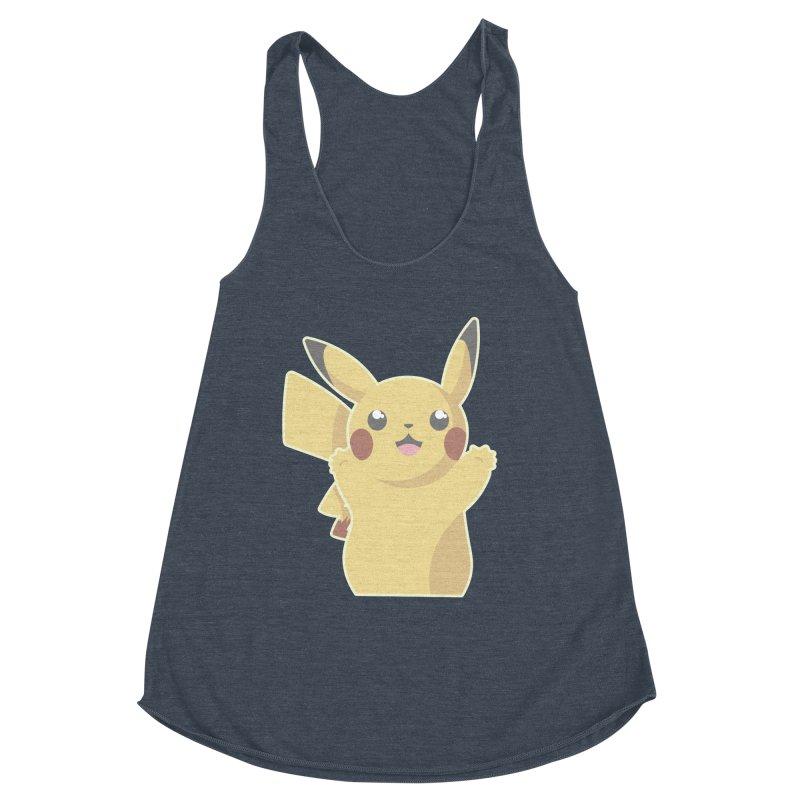 Let's Go Pikachu Pokemon Women's Racerback Triblend Tank by jaredslyterdesign's Artist Shop
