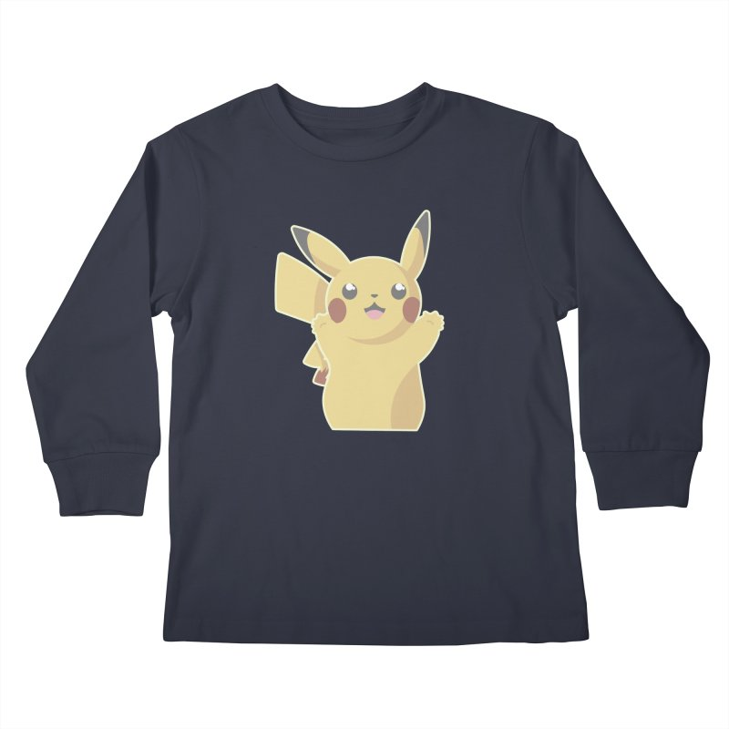 Let's Go Pikachu Pokemon Kids Longsleeve T-Shirt by jaredslyterdesign's Artist Shop