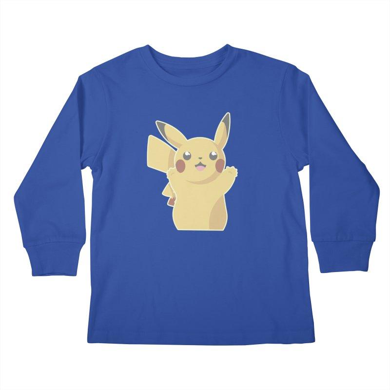 Let's Go Pikachu Pokemon Kids Longsleeve T-Shirt by jaredslyterdesign's Artist Shop