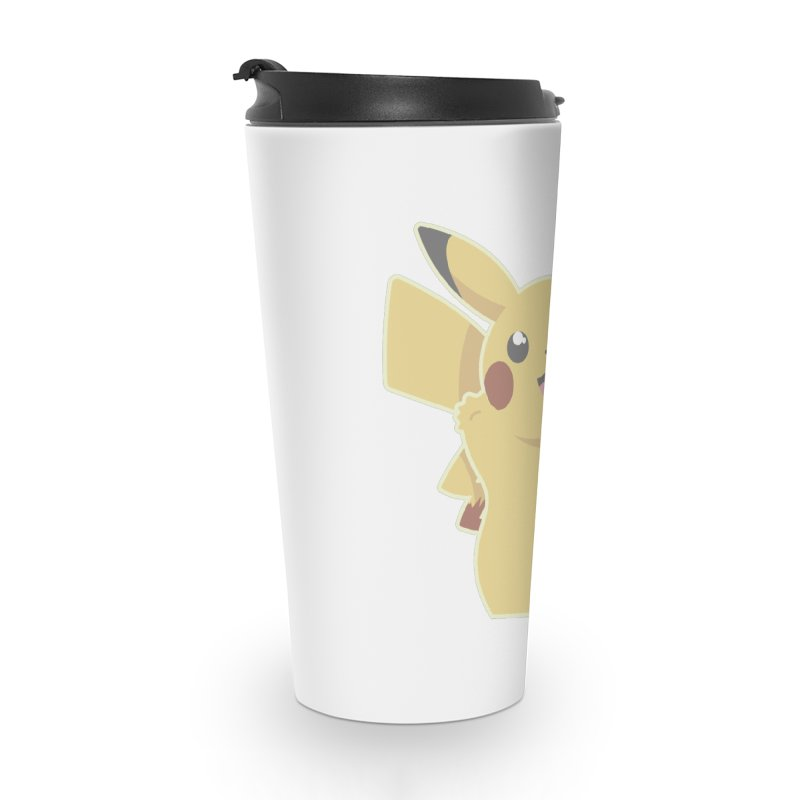 Let's Go Pikachu Pokemon Accessories Travel Mug by jaredslyterdesign's Artist Shop