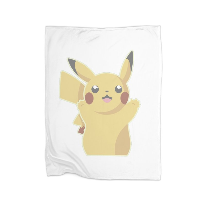 Let's Go Pikachu Pokemon Home Fleece Blanket Blanket by jaredslyterdesign's Artist Shop