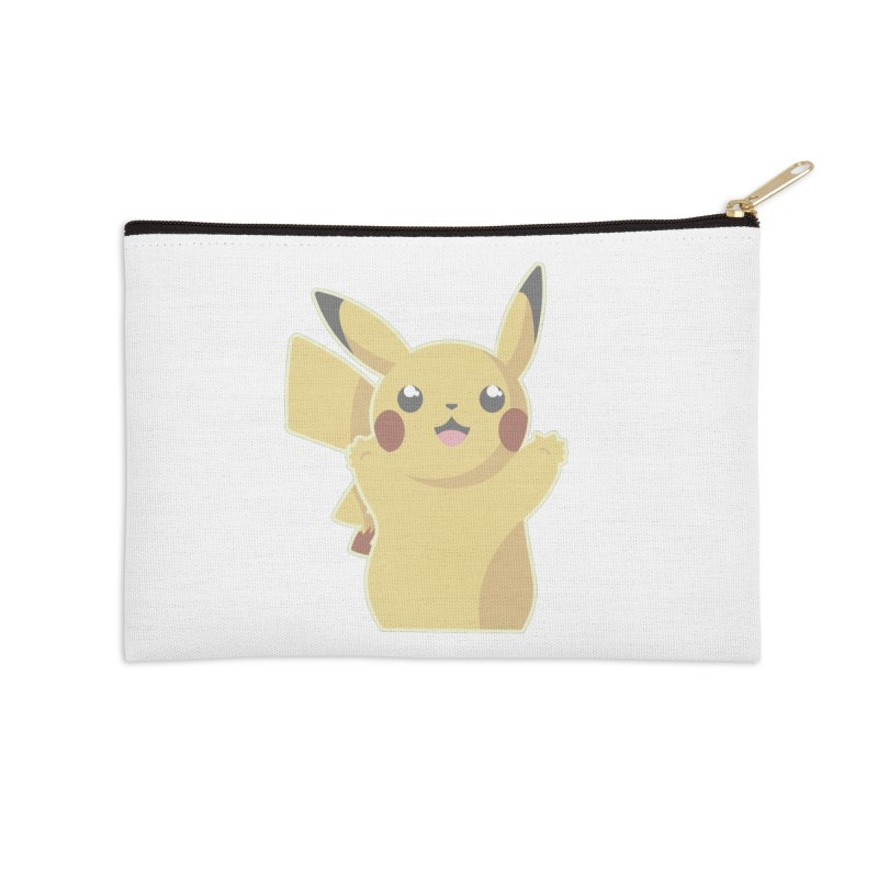 Let's Go Pikachu Pokemon Accessories Zip Pouch by jaredslyterdesign's Artist Shop