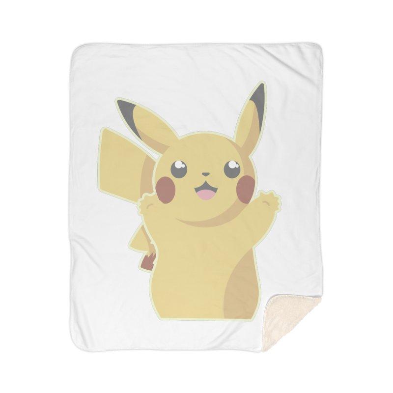 Let's Go Pikachu Pokemon Home Sherpa Blanket Blanket by jaredslyterdesign's Artist Shop