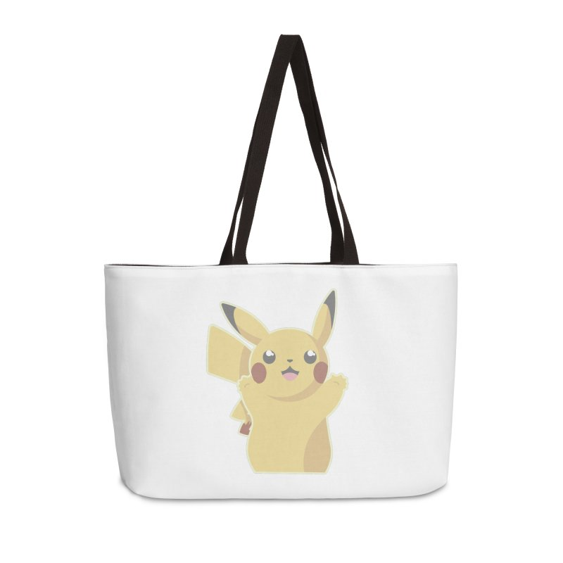 Let's Go Pikachu Pokemon Accessories Weekender Bag Bag by jaredslyterdesign's Artist Shop