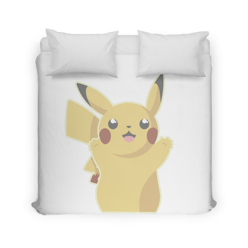 Let's Go Pikachu Pokemon Home Duvet by jaredslyterdesign's Artist Shop