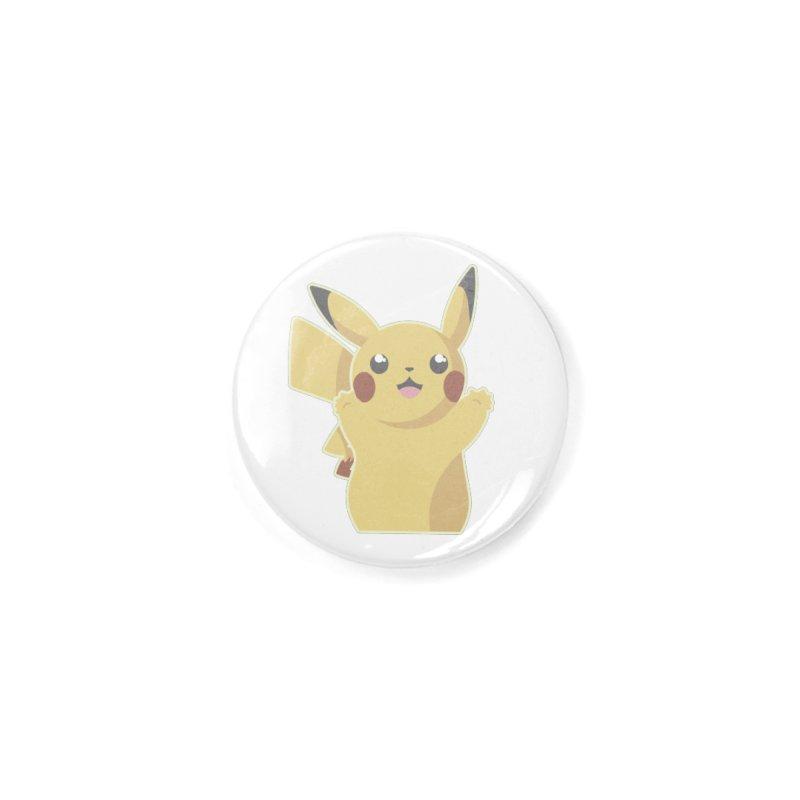 Let's Go Pikachu Pokemon Accessories Button by jaredslyterdesign's Artist Shop