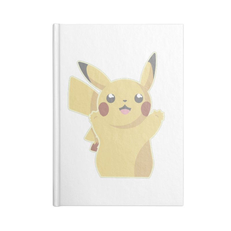 Let's Go Pikachu Pokemon Accessories Blank Journal Notebook by jaredslyterdesign's Artist Shop