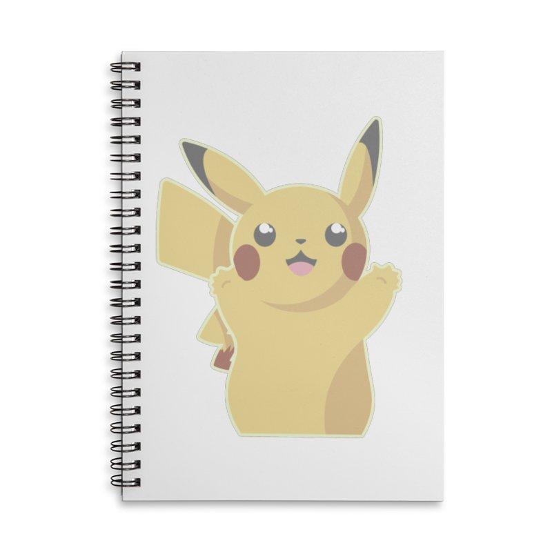 Let's Go Pikachu Pokemon Accessories Lined Spiral Notebook by jaredslyterdesign's Artist Shop