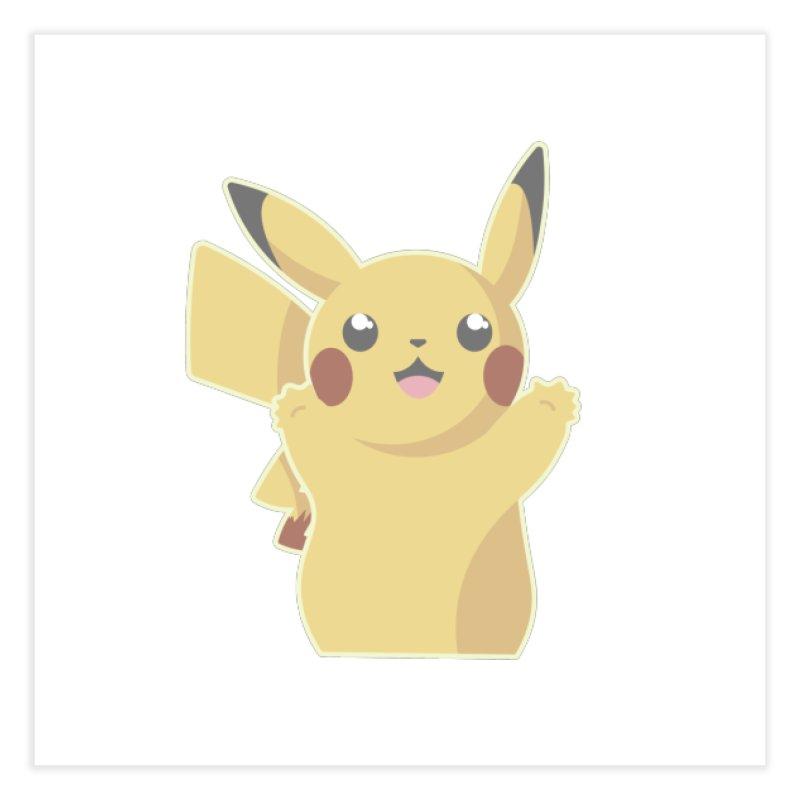Let's Go Pikachu Pokemon Home Fine Art Print by jaredslyterdesign's Artist Shop