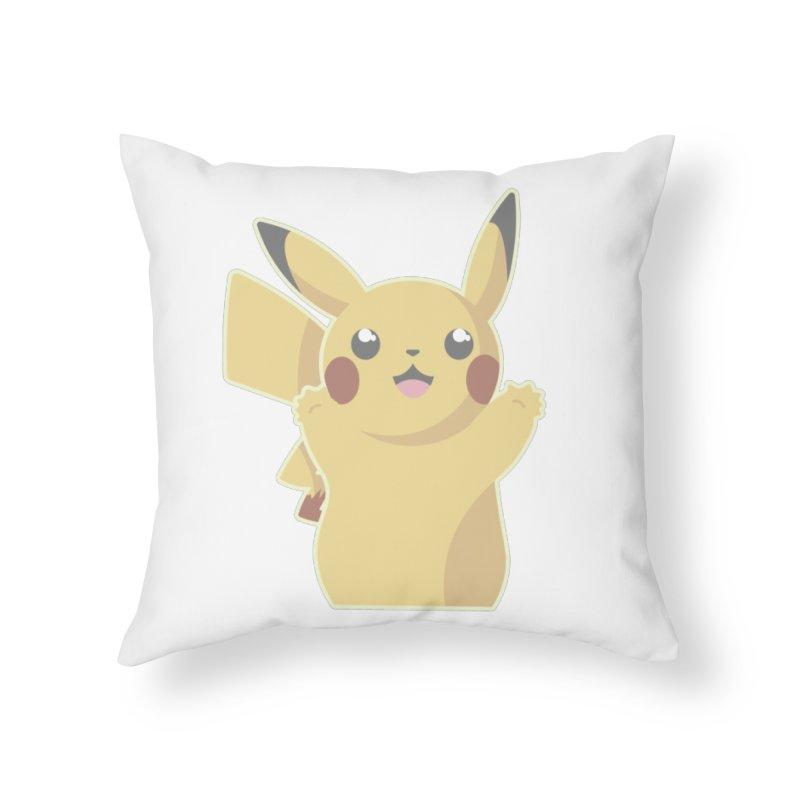 Let's Go Pikachu Pokemon Home Throw Pillow by jaredslyterdesign's Artist Shop