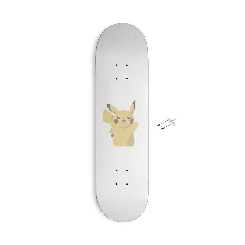 Let's Go Pikachu Pokemon Accessories Skateboard by jaredslyterdesign's Artist Shop