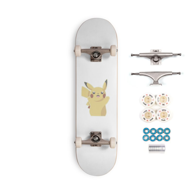 Let's Go Pikachu Pokemon Accessories Complete - Premium Skateboard by jaredslyterdesign's Artist Shop