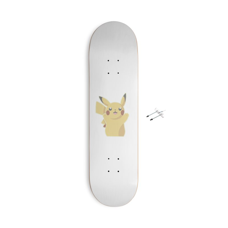 Let's Go Pikachu Pokemon Accessories With Hanging Hardware Skateboard by jaredslyterdesign's Artist Shop
