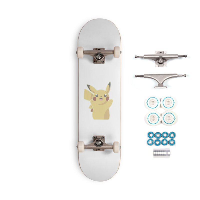 Let's Go Pikachu Pokemon Accessories Complete - Basic Skateboard by jaredslyterdesign's Artist Shop