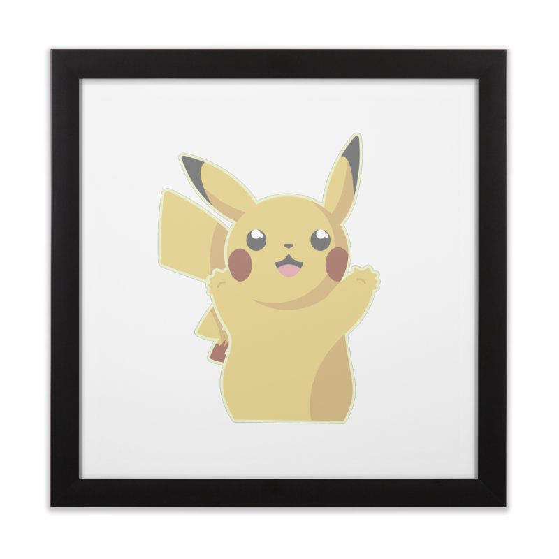 Let's Go Pikachu Pokemon Home Framed Fine Art Print by jaredslyterdesign's Artist Shop
