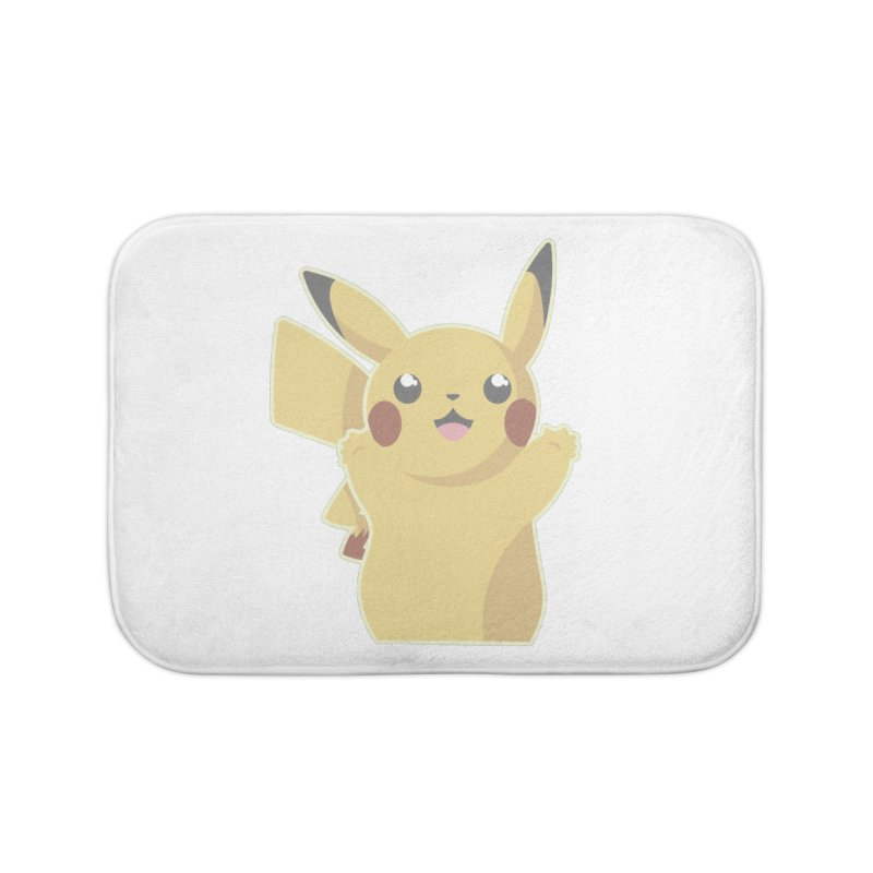 Let's Go Pikachu Pokemon Home Bath Mat by jaredslyterdesign's Artist Shop