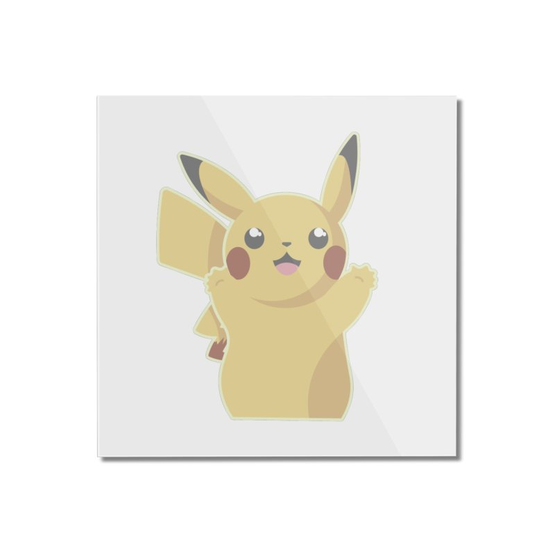 Let's Go Pikachu Pokemon Home Mounted Acrylic Print by jaredslyterdesign's Artist Shop