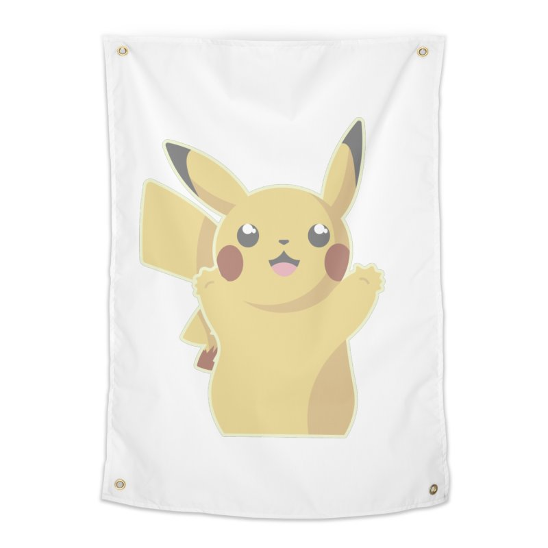 Let's Go Pikachu Pokemon Home Tapestry by jaredslyterdesign's Artist Shop