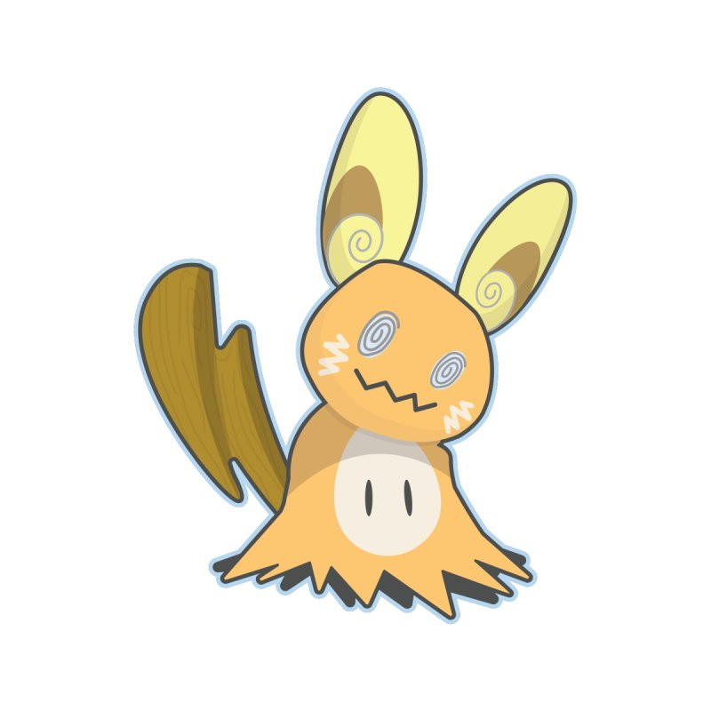 Alolan Mimikyu Raichu None  by jaredslyterdesign's Artist Shop
