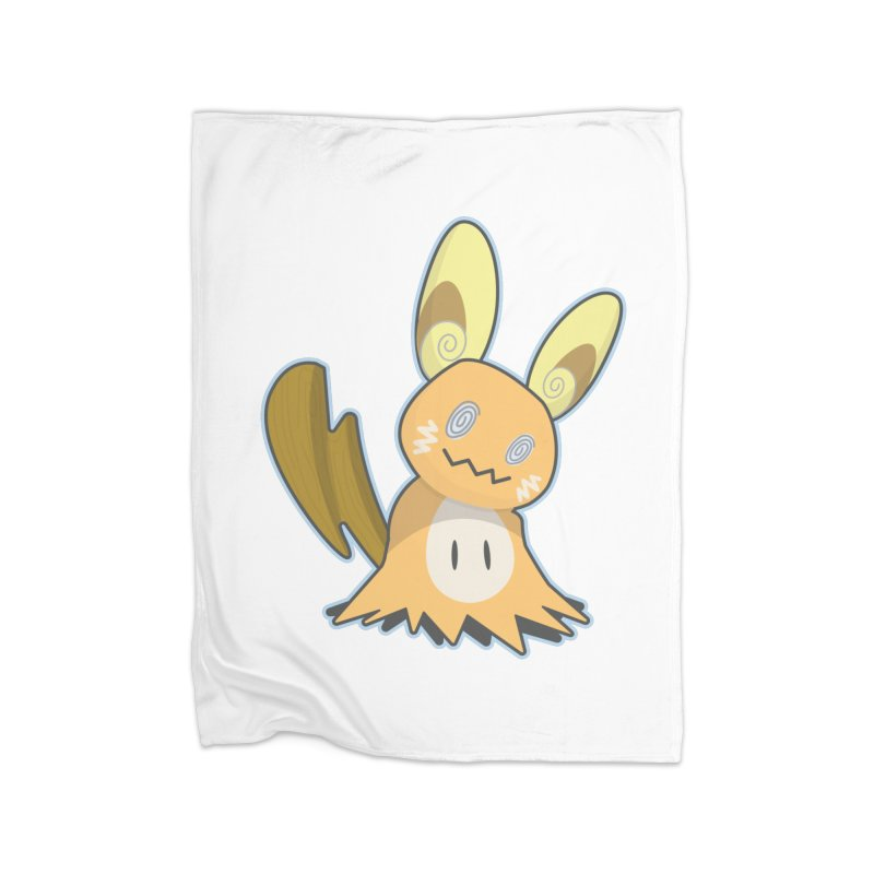 Alolan Mimikyu Raichu Home Fleece Blanket Blanket by jaredslyterdesign's Artist Shop