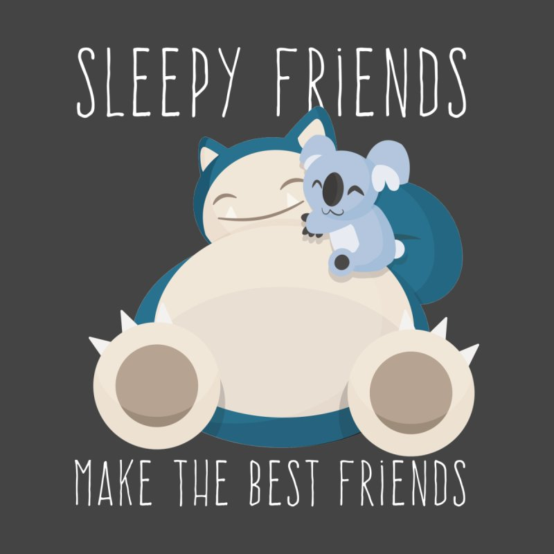 Sleepy Friends Make the Best Friends Snorlax & Komala by jaredslyterdesign's Artist Shop