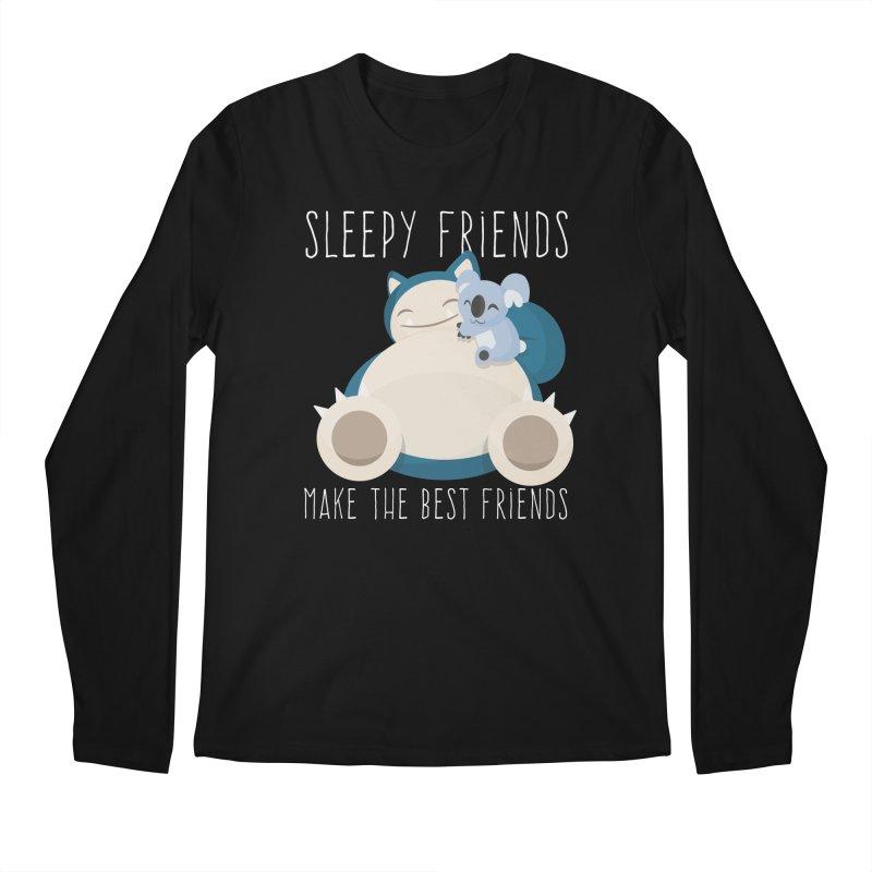 Sleepy Friends Make the Best Friends Snorlax & Komala Men's Regular Longsleeve T-Shirt by jaredslyterdesign's Artist Shop