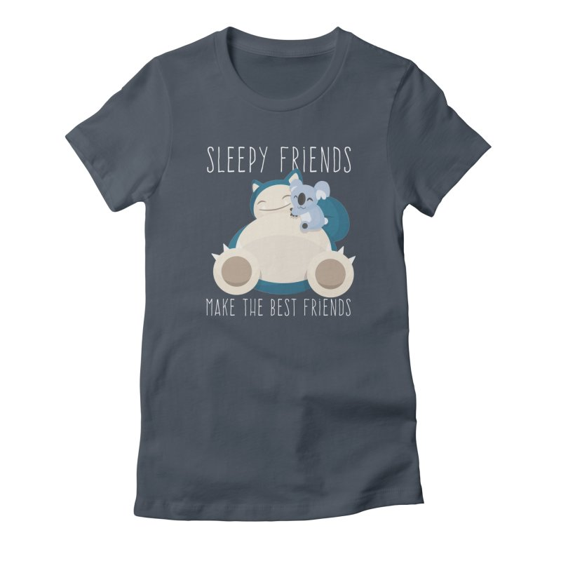 Sleepy Friends Make the Best Friends Snorlax & Komala Women's French Terry Zip-Up Hoody by jaredslyterdesign's Artist Shop