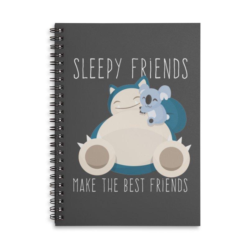 Sleepy Friends Make the Best Friends Snorlax & Komala Accessories Notebook by jaredslyterdesign's Artist Shop