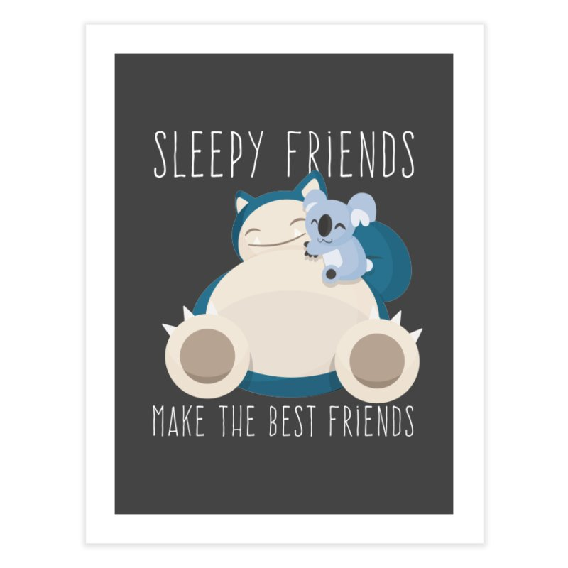 Sleepy Friends Make the Best Friends Snorlax & Komala Home Bath Mat by jaredslyterdesign's Artist Shop