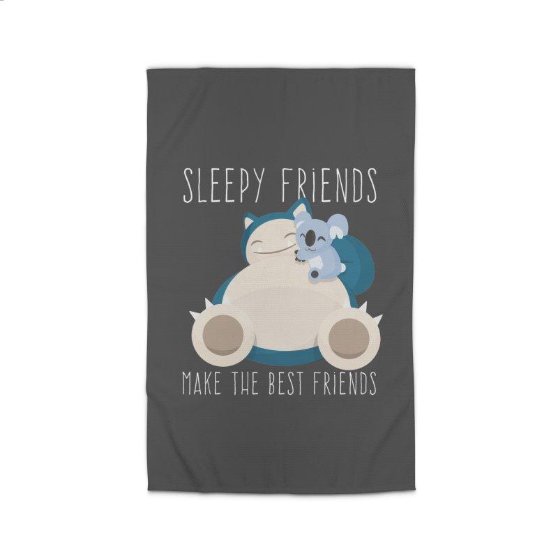 Sleepy Friends Make the Best Friends Snorlax & Komala Home Rug by jaredslyterdesign's Artist Shop