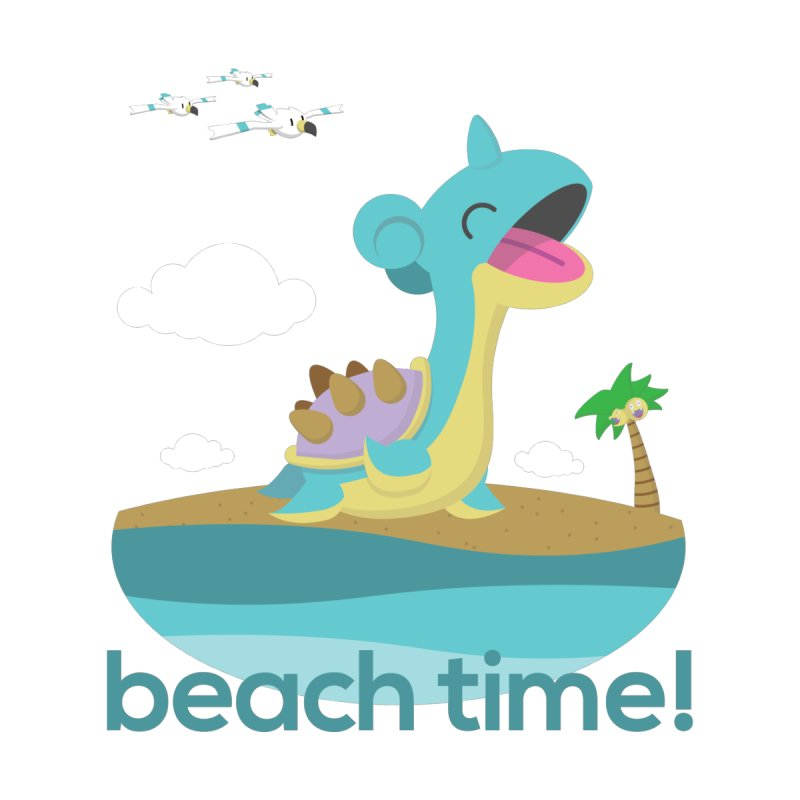 BEACH TIME WITH LAPRAS! None  by jaredslyterdesign's Artist Shop