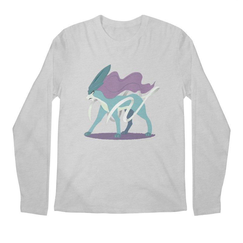 SUICUNE: RIGHT INTO THE NIGHT Men's Regular Longsleeve T-Shirt by jaredslyterdesign's Artist Shop