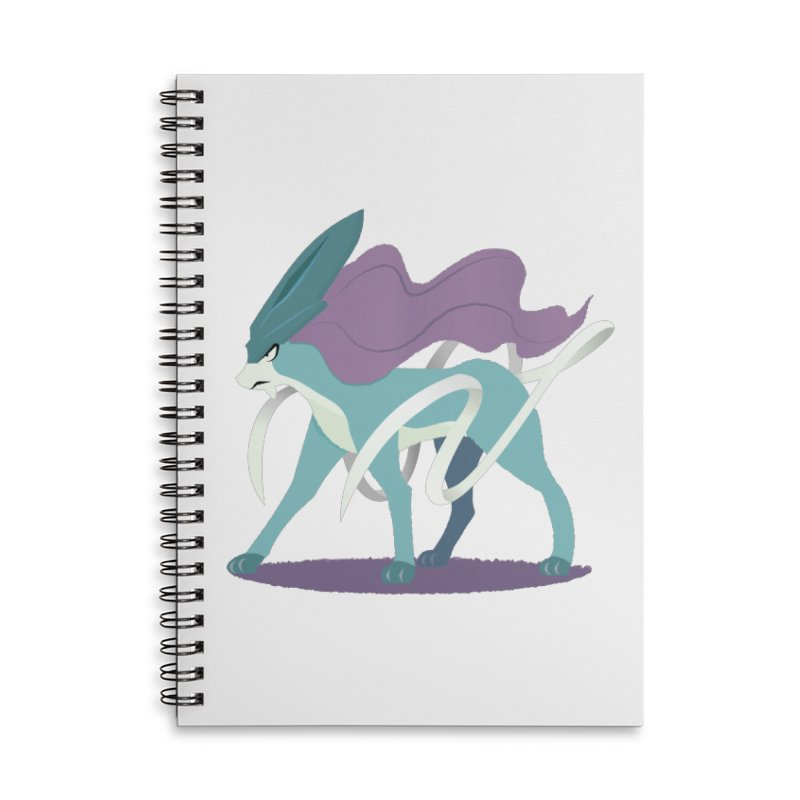 SUICUNE: RIGHT INTO THE NIGHT Accessories Notebook by jaredslyterdesign's Artist Shop