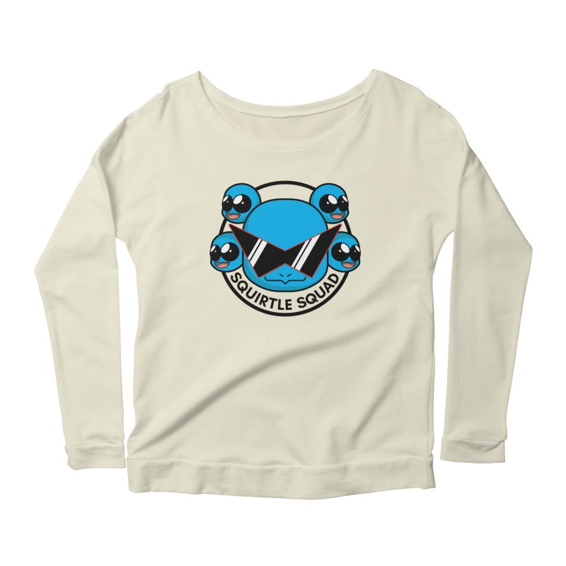 SQUAD GOALS WITH THE SQUIRTLE SQUAD Women's Longsleeve Scoopneck  by jaredslyterdesign's Artist Shop