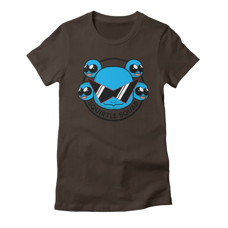 SQUAD GOALS WITH THE SQUIRTLE SQUAD Women's Fitted T-Shirt by jaredslyterdesign's Artist Shop