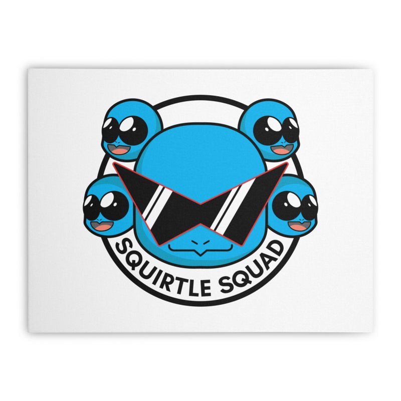SQUAD GOALS WITH THE SQUIRTLE SQUAD Home Stretched Canvas by jaredslyterdesign's Artist Shop