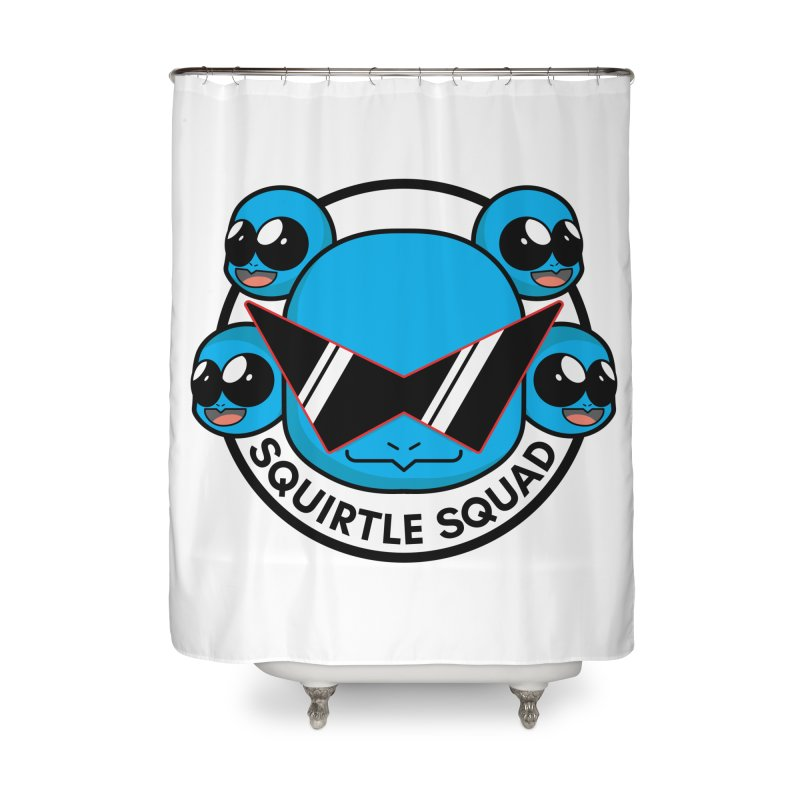 SQUAD GOALS WITH THE SQUIRTLE SQUAD Home Shower Curtain by jaredslyterdesign's Artist Shop