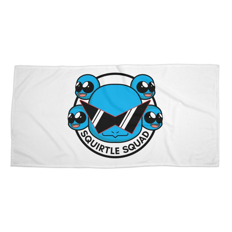 SQUAD GOALS WITH THE SQUIRTLE SQUAD Accessories Beach Towel by jaredslyterdesign's Artist Shop