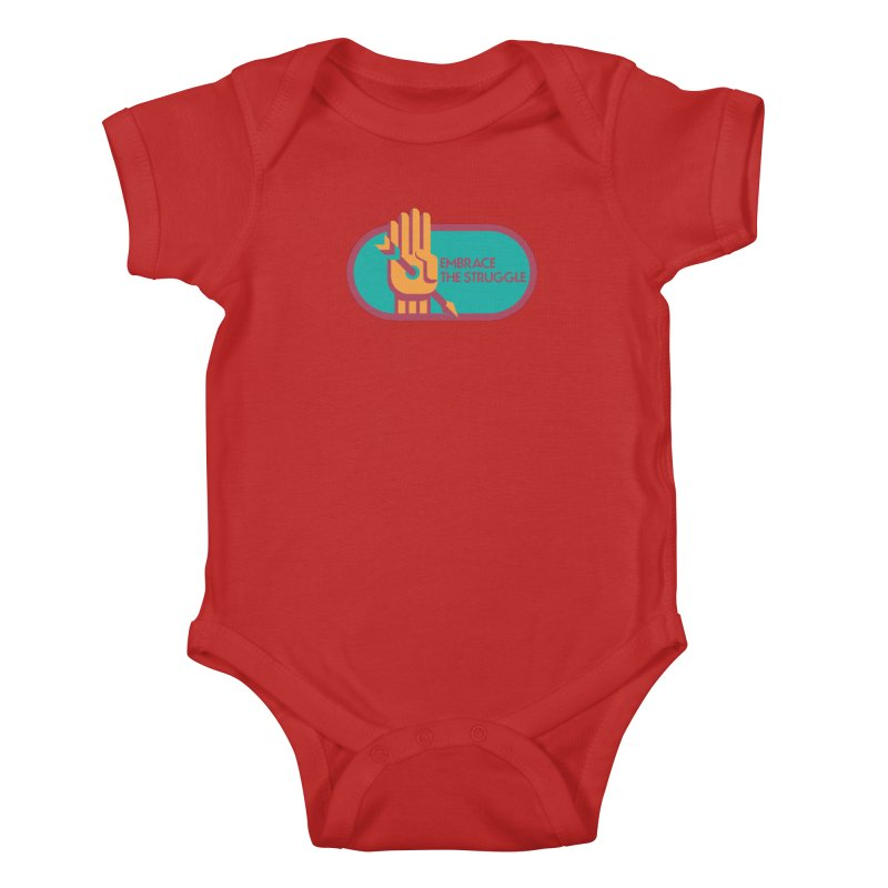 Embrace the Struggle Kids Baby Bodysuit by jaredslyterdesign's Artist Shop