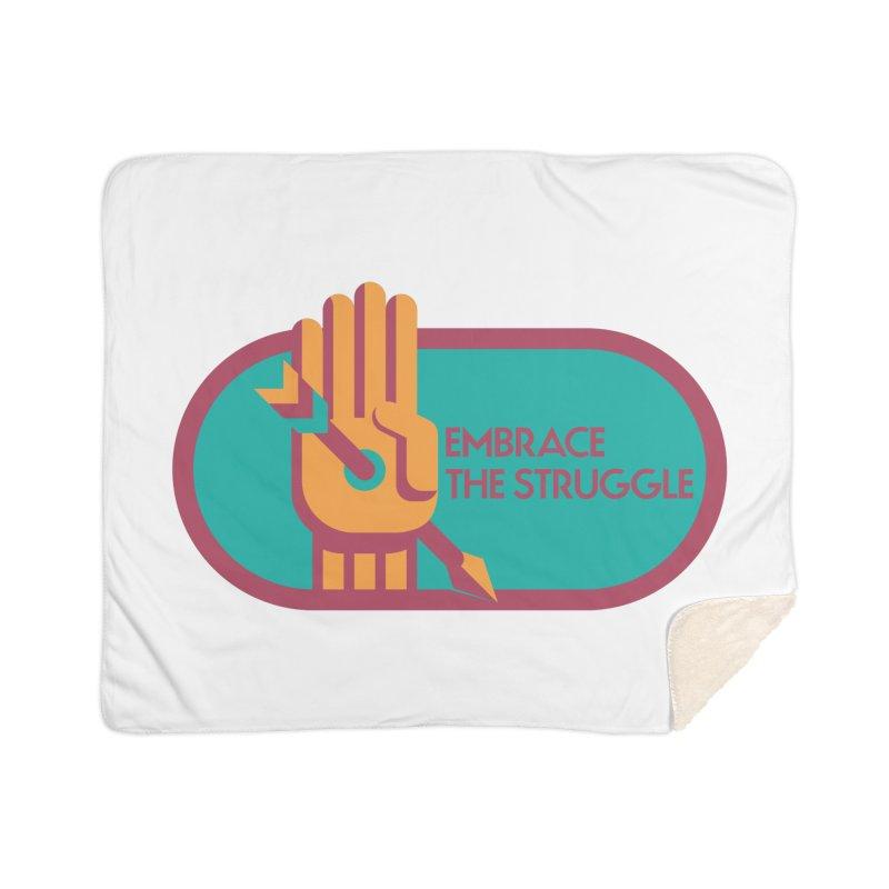 Embrace the Struggle Home Sherpa Blanket Blanket by jaredslyterdesign's Artist Shop