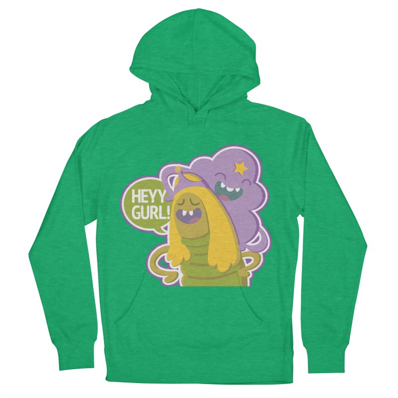 Heyy Gurl! Lumpy Space Princess (LSP) and Turtle Princess  Men's French Terry Pullover Hoody by jaredslyterdesign's Artist Shop