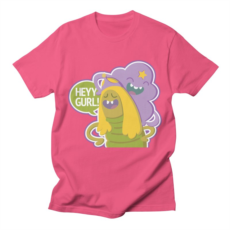 Heyy Gurl! Lumpy Space Princess (LSP) and Turtle Princess  Men's T-shirt by jaredslyterdesign's Artist Shop