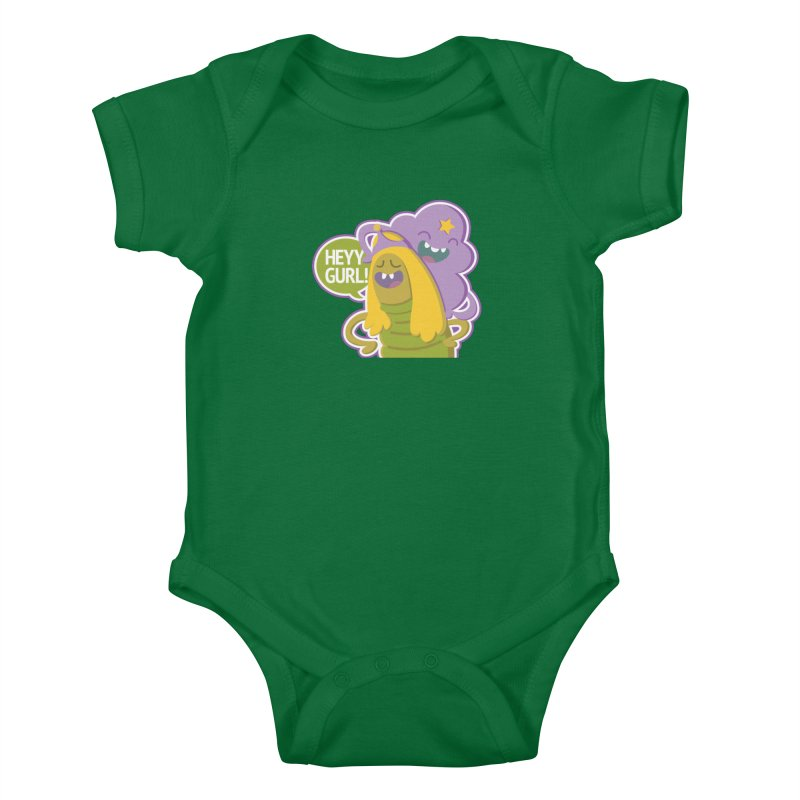 Heyy Gurl! Lumpy Space Princess (LSP) and Turtle Princess  Kids Baby Bodysuit by jaredslyterdesign's Artist Shop