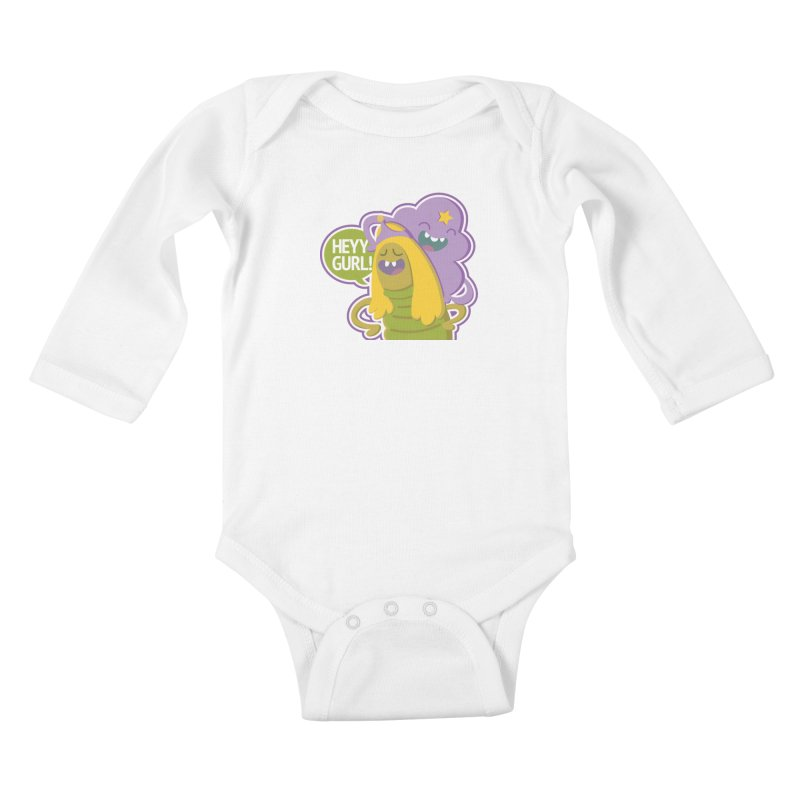 Heyy Gurl! Lumpy Space Princess (LSP) and Turtle Princess  Kids Baby Longsleeve Bodysuit by jaredslyterdesign's Artist Shop