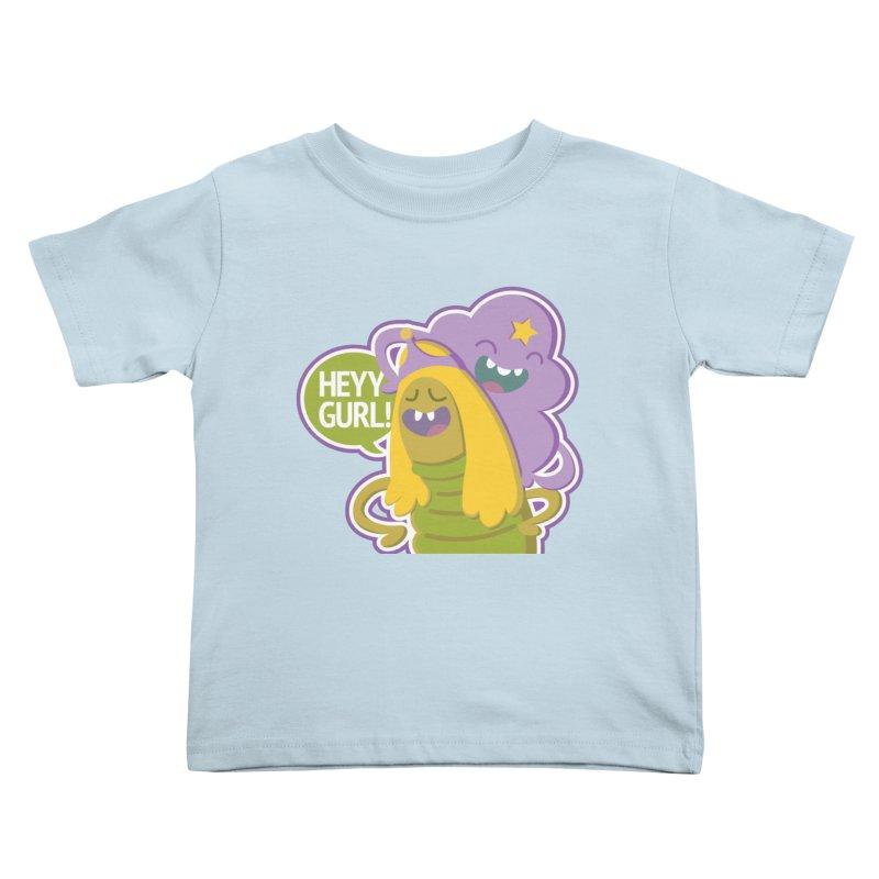 Heyy Gurl! Lumpy Space Princess (LSP) and Turtle Princess  Kids Toddler T-Shirt by jaredslyterdesign's Artist Shop