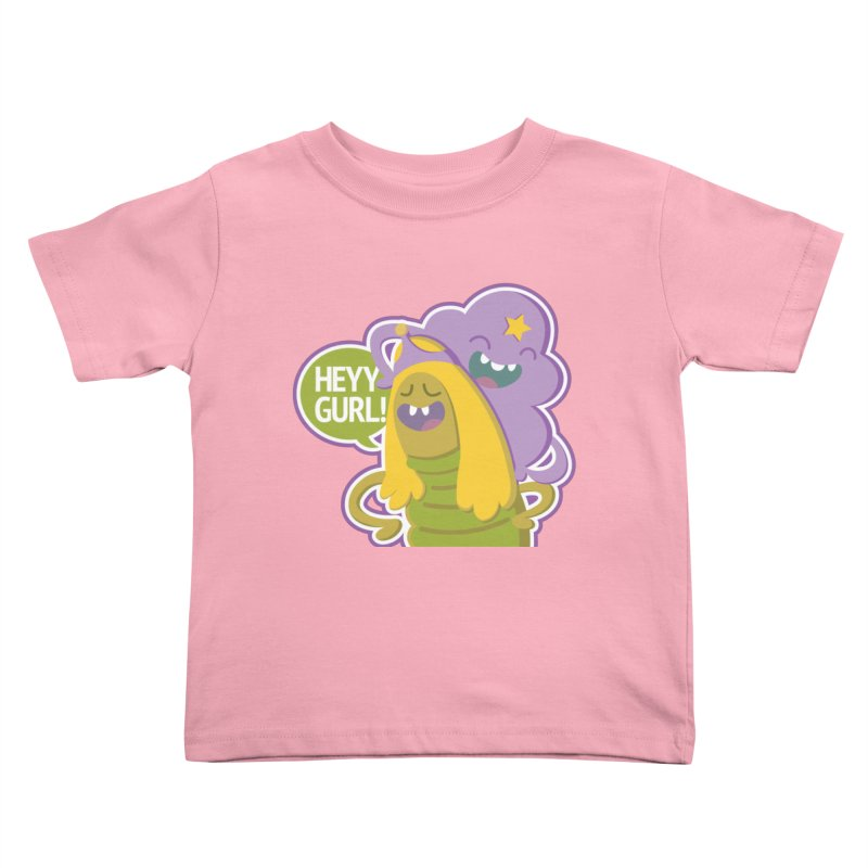 Heyy Gurl! Lumpy Space Princess (LSP) and Turtle Princess  Kids Toddler T-Shirt by jaredslyterdesign's Artist Shop