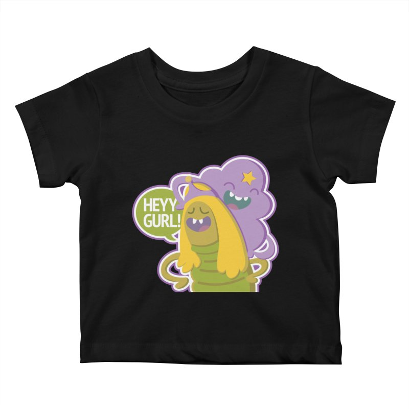 Heyy Gurl! Lumpy Space Princess (LSP) and Turtle Princess  Kids Baby T-Shirt by jaredslyterdesign's Artist Shop